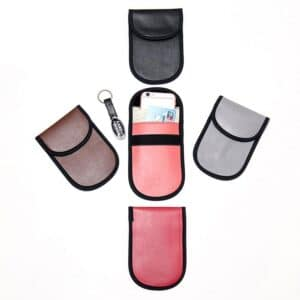 various PU leather rfid blocking bags in different colors