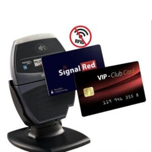 active rfid blocking cards with jamming signal