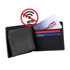 rfid blocking card in wallet