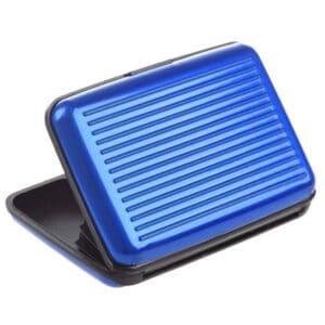 blue rfid protecting wallet