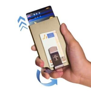 rfid protection wallet showing pop-up mechanism