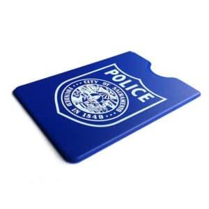 blue rfid blocking sleeve for police