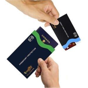passport and credit card protectors with individual printing