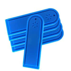 five blue rfid laundry tags for washing machine