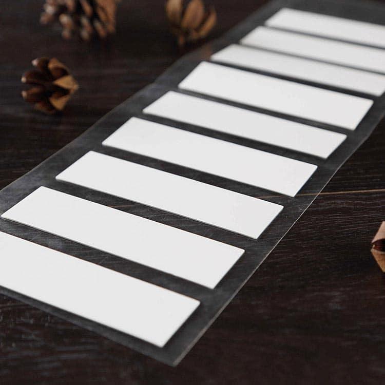 UHF rfid tags on wooden table