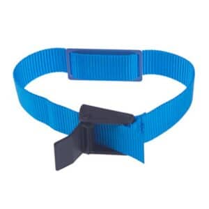 blue rfid wristband with nylon band and embedded rfid chip