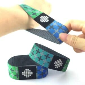 hand strechting elastic rfid wristband with customer specific design
