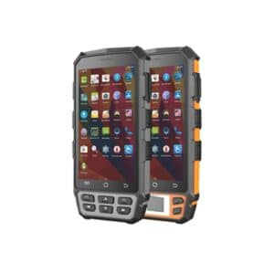 two android handheld readers front view